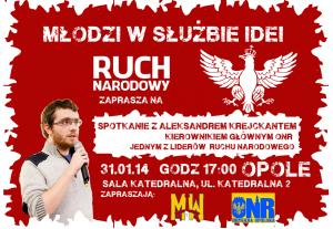 Spotkanie z Aleksandrem Krejckantem w Opolu 31-01-2014