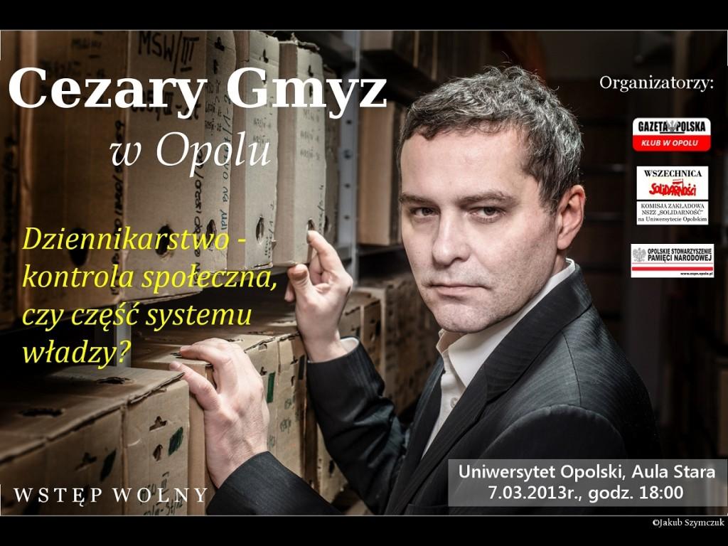 Cezary Gmyz w Opolu 07-03-2013