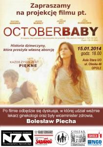 Film October Baby w Opolu 15-01-2014