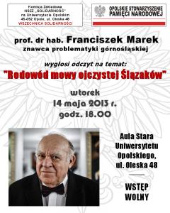 Franciszek Marek 14-05-2013
