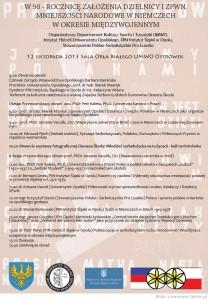 """Konferencja """"Mniejszości narodowe w Niemczech w okresie międzywojennym"""" w Opolu 12-11-2013"""