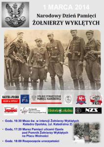 Narodowy Dzień Pamięci Żołnierzy Wyklętych w Opolu 01-03-2014