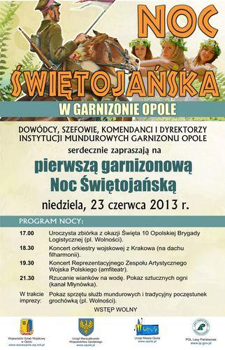 Noc świętojanska w garnizonie Opole 23-06-2013