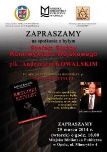Płk. Andrzej Kowalski w Opolu 25-03-2014