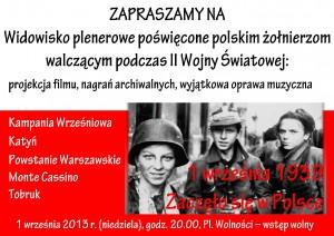 Rocznica wybuchu II Wojny Światowej w Opolu 1-09-2013