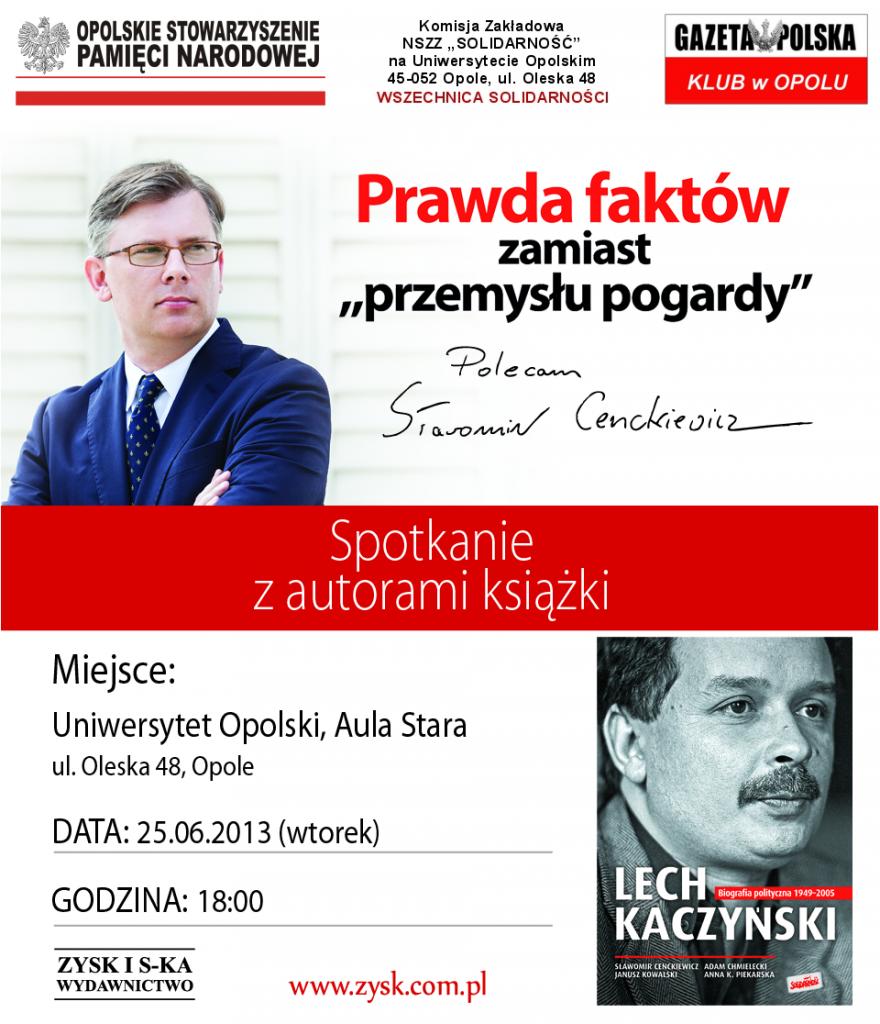 Sławomir Cenckiewicz w Opolu 25-06-2013