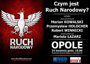 Spotkanie z Ruchem Narodowym w Opolu 24-04-2013