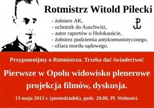 Urodziny Witolda Pileckiego w Opolu 13-05-2013