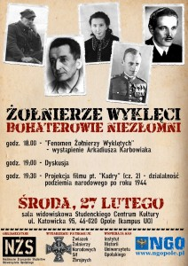 Żolnierze Wyklęci 27-02-2013